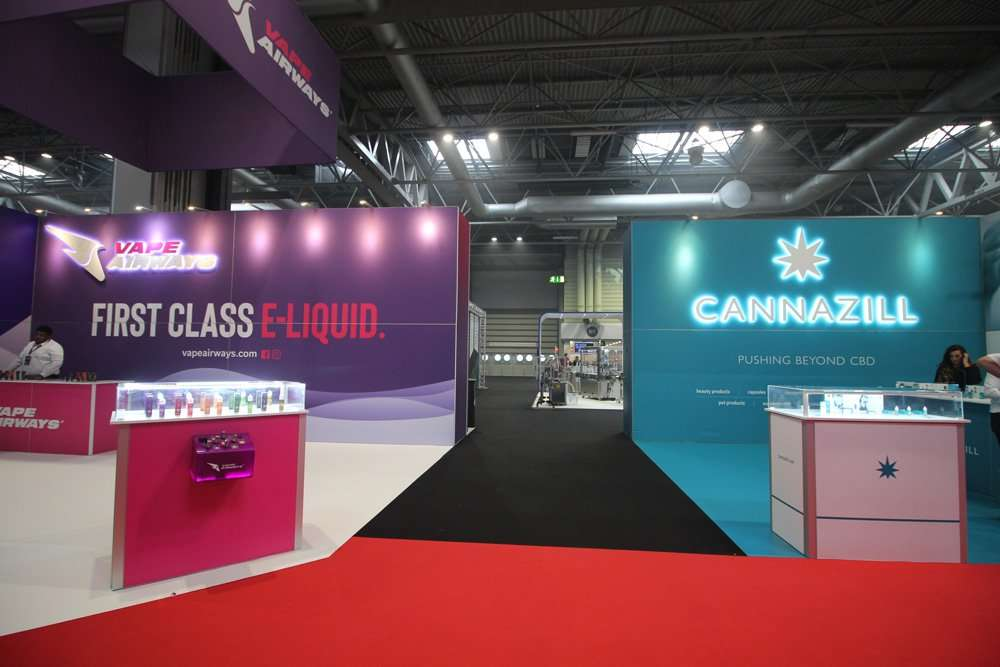 Vape Airways and Cannazill Exhibition Stands