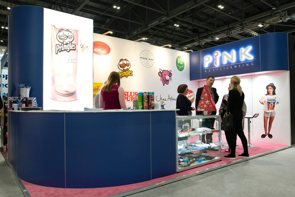 Pink Key Exhibition Stand