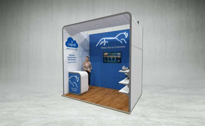 White Horse Scientific exhibition stand