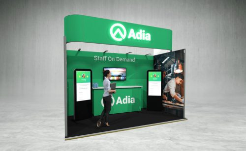 Adia exhibition stand