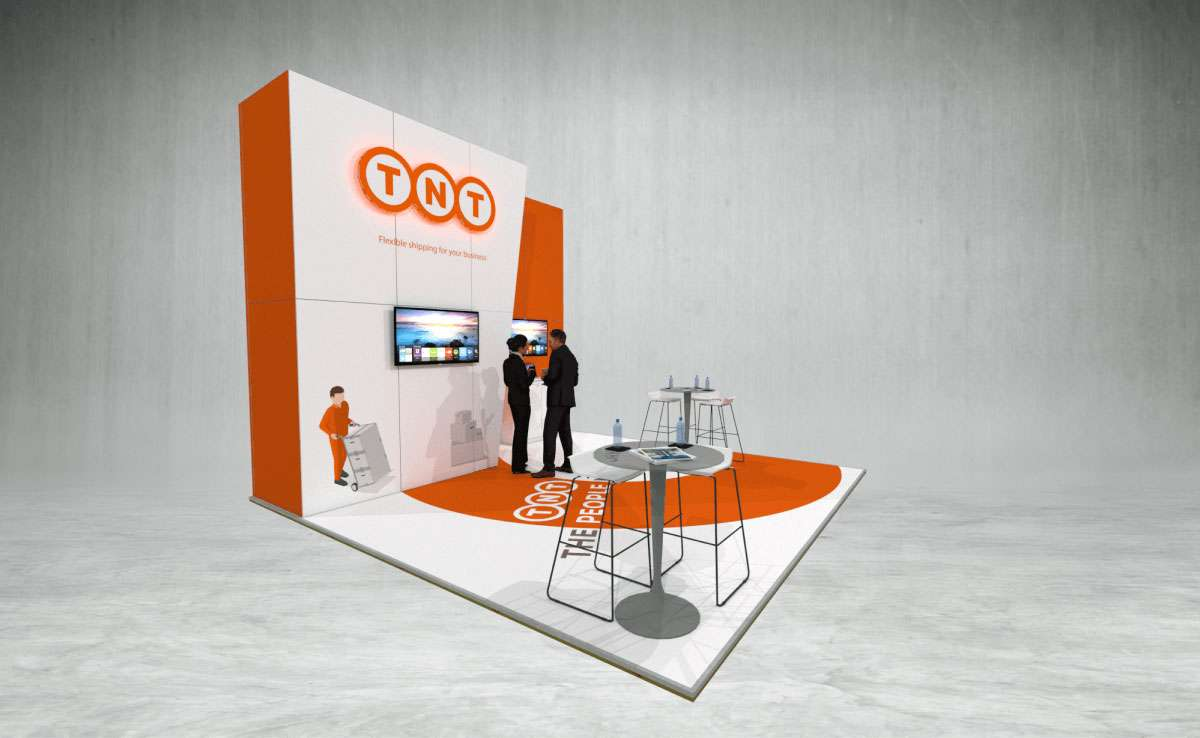 TNT The People Network exhibition stand