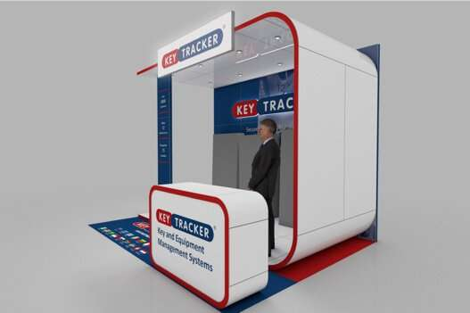 Key Tracker exhibition stand