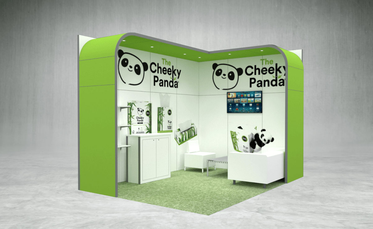 Cheeky Panda Exhibition Stand
