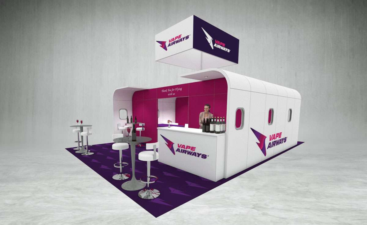 Vape Airways Exhibition Stand